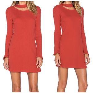 Insight Bell rib burnt orange cotton dress